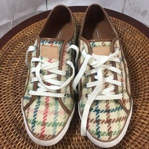 """Coach Sneaker Lace Up Shoes """"Dee"""" Barrett Brown Be"""